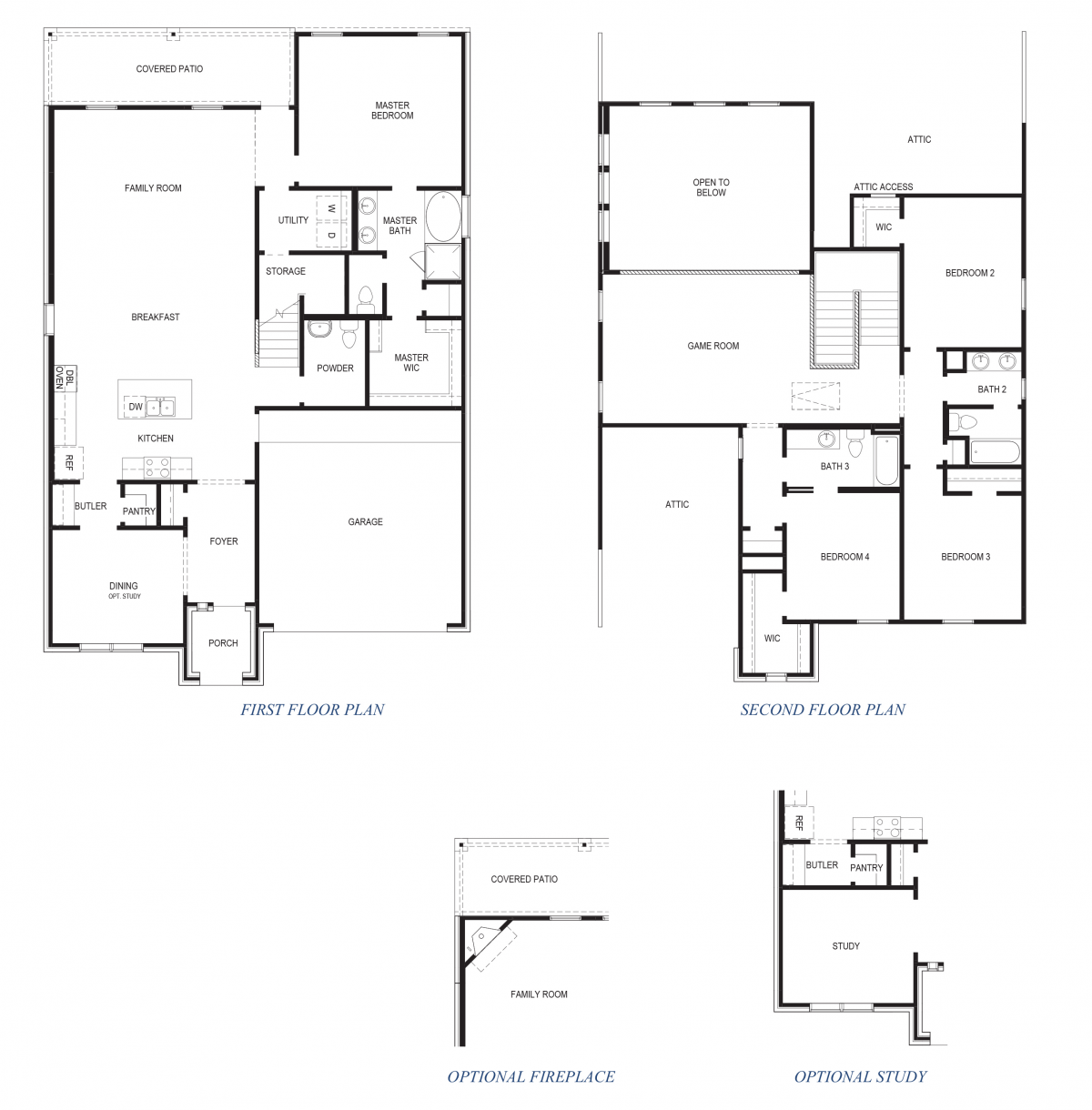 D.R. Horton Floor Plan 2853 Pattison