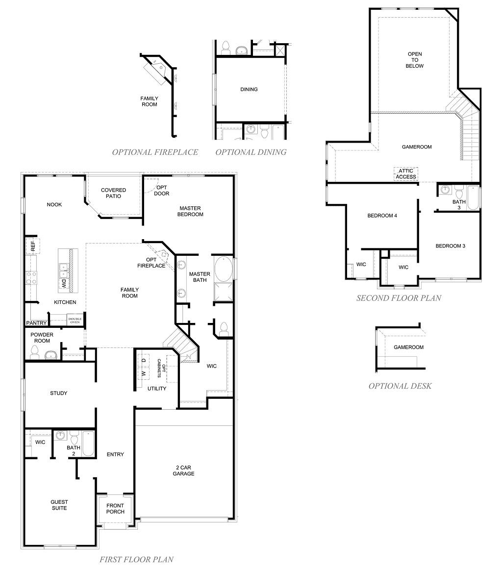 D.R. Horton Floor Plan 2926 Rockdale