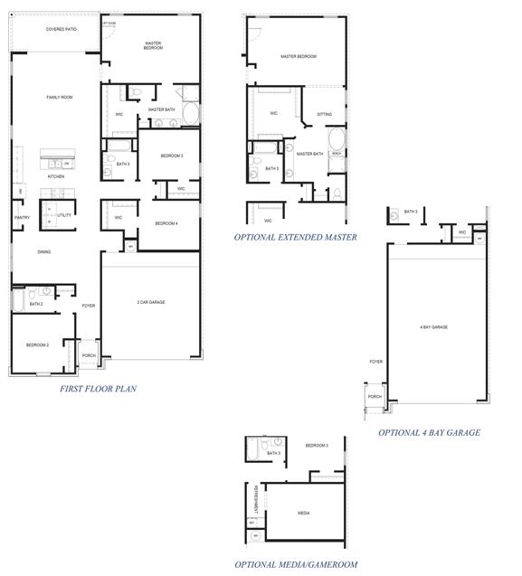 D.R. Horton Floor Plan 2206 Channing