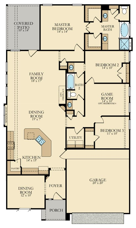 Travertine II 3735 Floor Plan