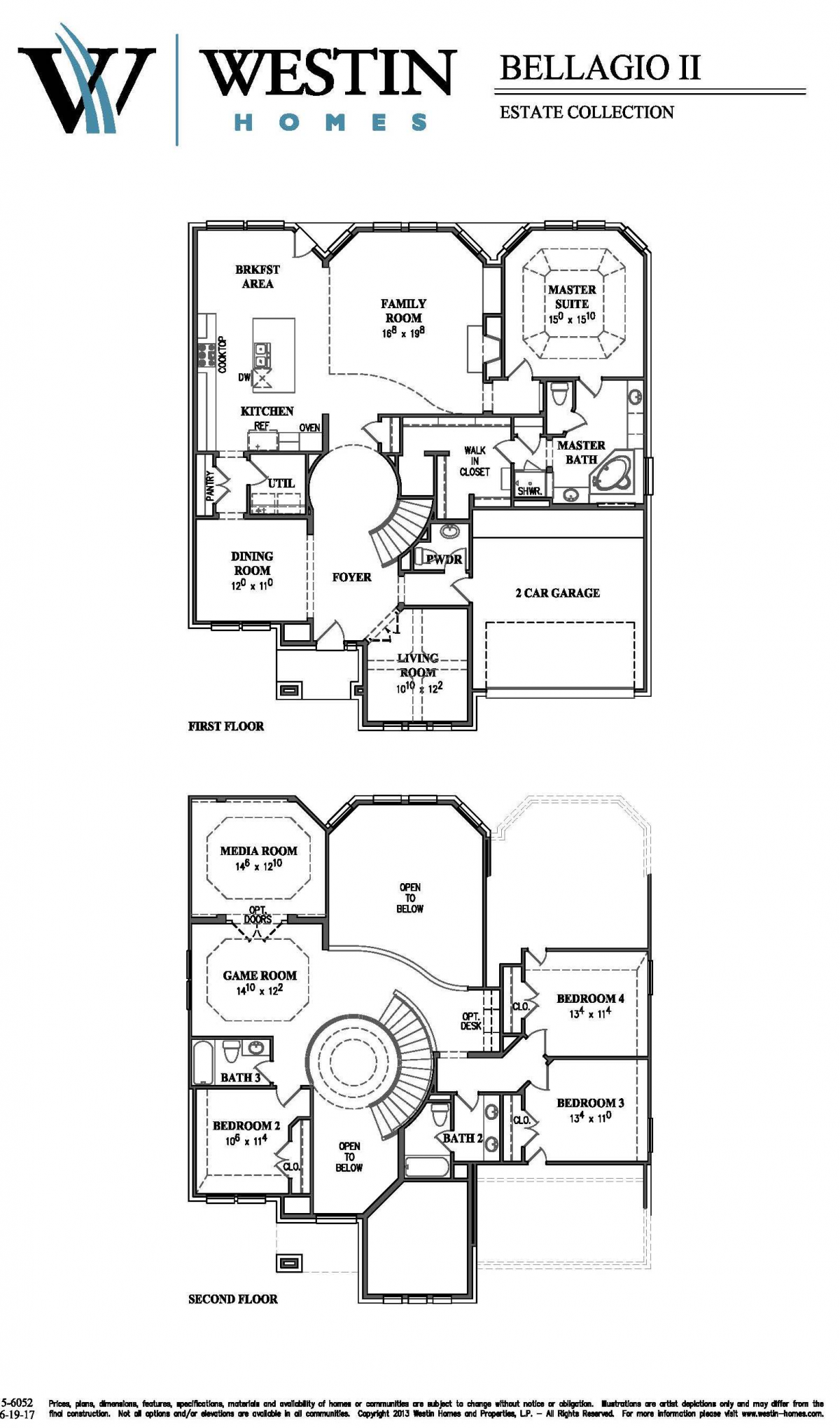Bellagio II 56052 Floor Plan