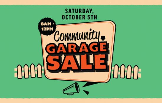 Great Garage Sale, Great Prices Oct. 5