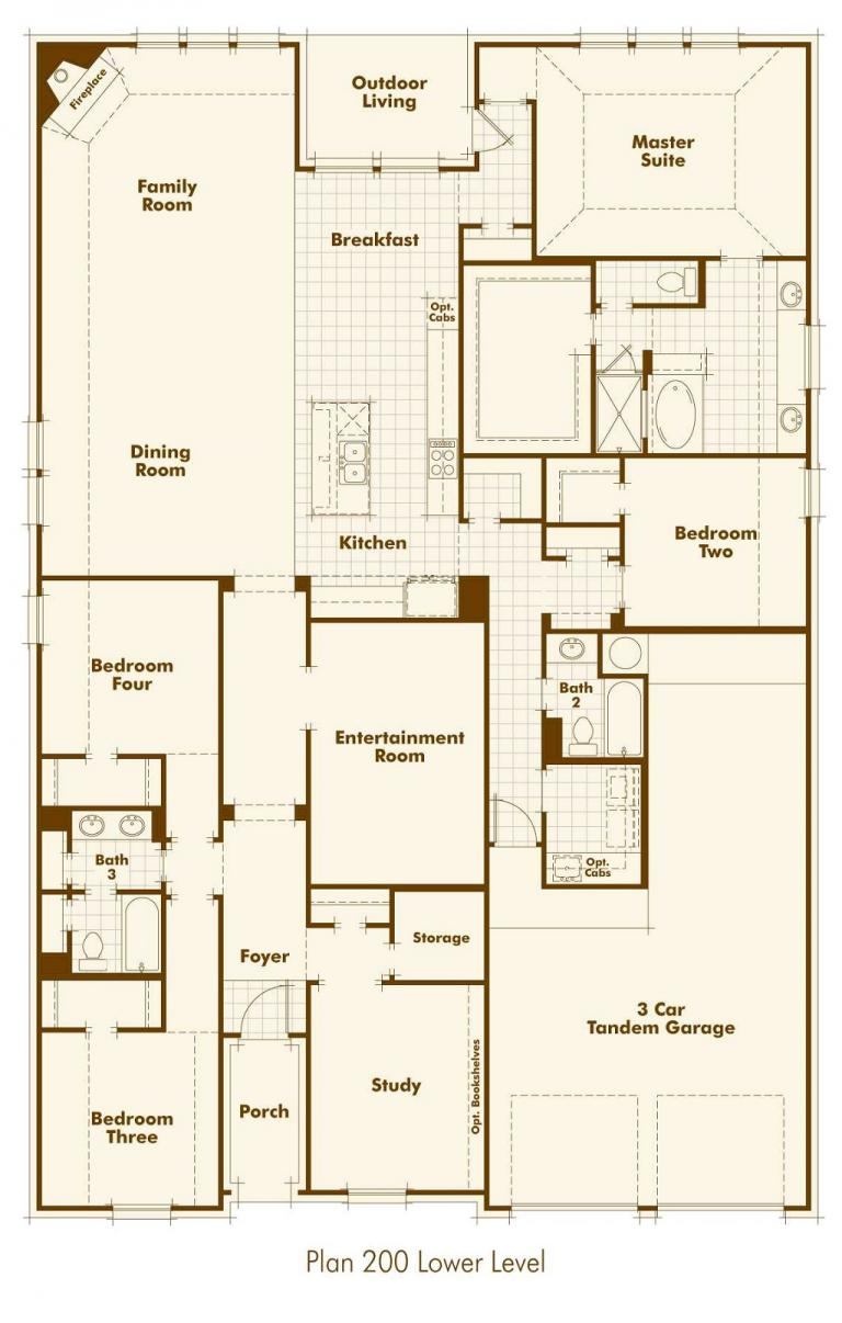 Harvest Green Highland Homes Floor Plan 200