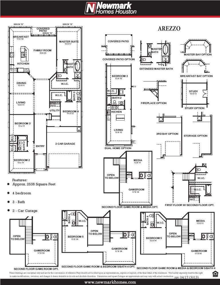 Newmark Homes Floor Plan 5013 Arezzo