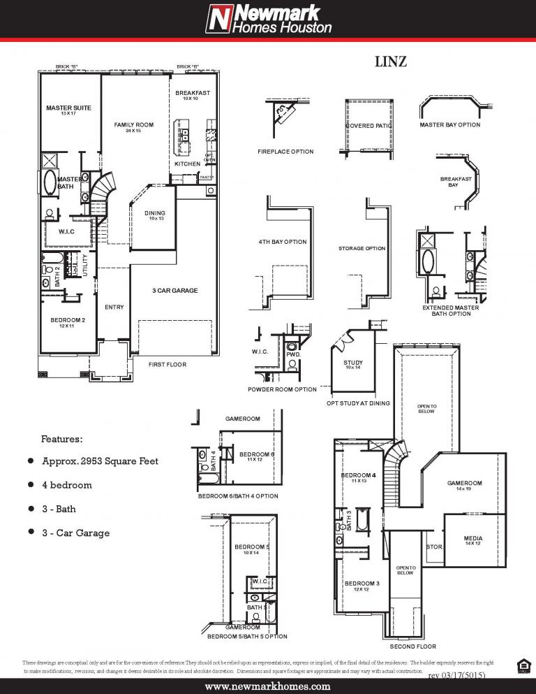Harvest Green Newmark Homes Floor Plan 5015 Linz
